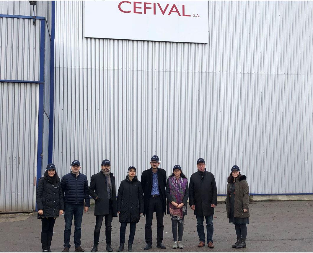 Visite des architectes de la Municipalité Métropolitaine d'Eskisehir au CEFIVAL